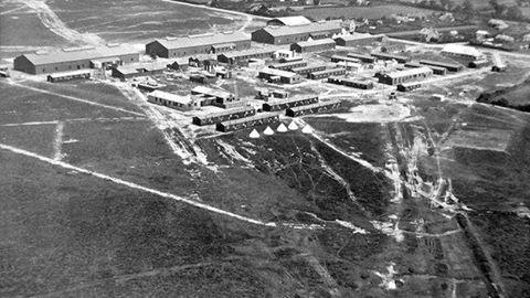 Beaulieu Airfield in 1917