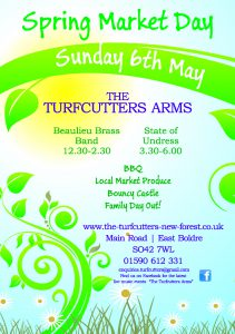 Spring Market Day at the Turfcutters Arms East Boldre