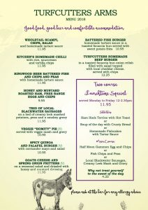 Spring Menu at the Turfcutters Arms East Boldre