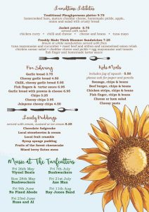 Turfcutters Arms summer menu page two