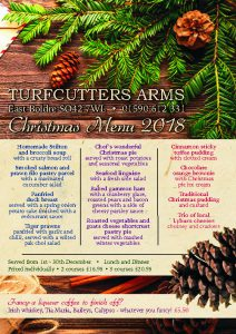 View the Turfcutters Arms 2018 Christmas Menu