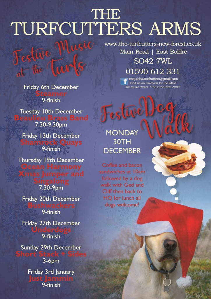 Turfcutters Festive events December and Christmas 2019