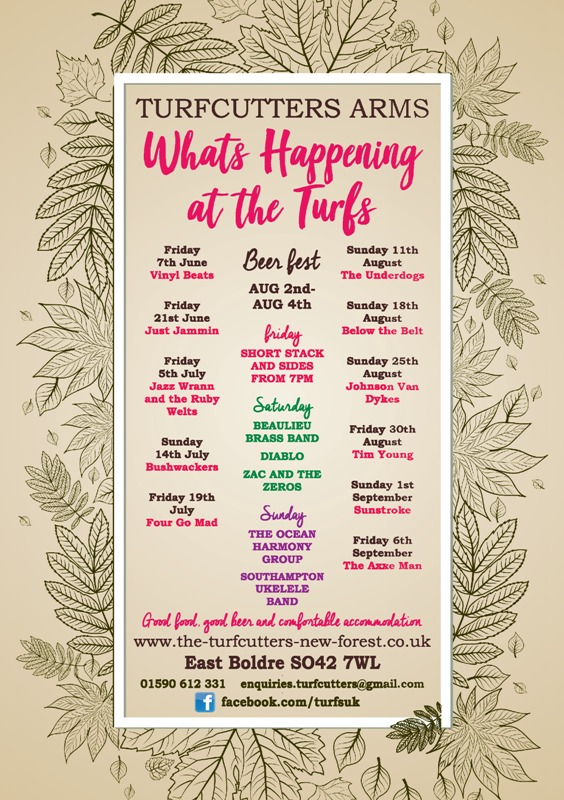 Summer Events at the Turfcutters Arms