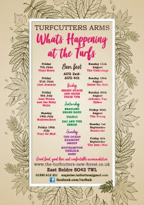 Summer Events at the Turfcutters Arms East Boldre