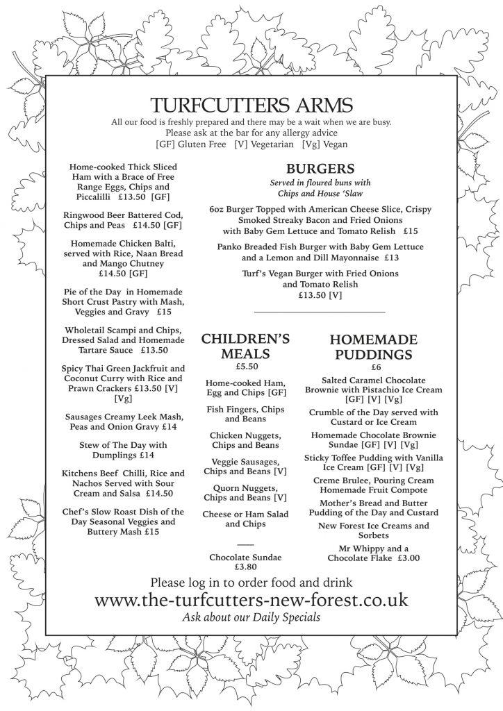 Turfcutters autumn menu main