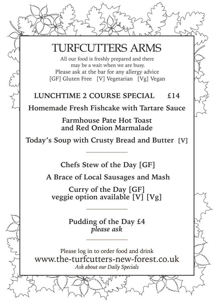 Turfcutters autumn menu
