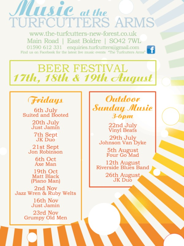 Live music all weekend at the annual Turfcutters Arms Beer Festival