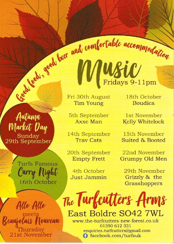 Live music at the Turfcutters Arms Autumn 2019 - Suited and Booted