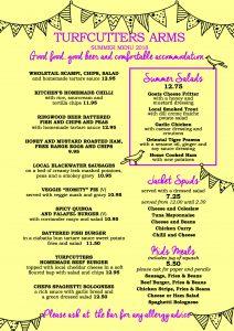 Summer menu page one